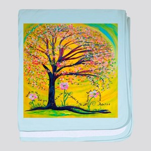 A Tree Planted by the Water baby blanket