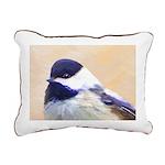 Chickadee Rectangular Canvas Pillow