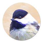 Chickadee Round Car Magnet
