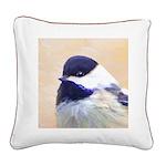Chickadee Square Canvas Pillow