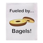 Fueled by Bagels Throw Blanket