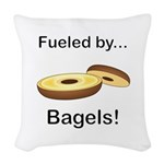 Fueled by Bagels Woven Throw Pillow