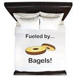 Fueled by Bagels King Duvet