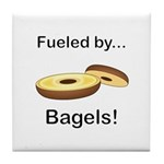 Fueled by Bagels Tile Coaster
