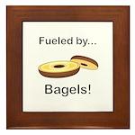 Fueled by Bagels Framed Tile