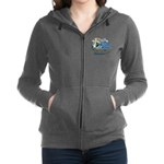 Women's Zip Hooded Sweatshirt - Dark