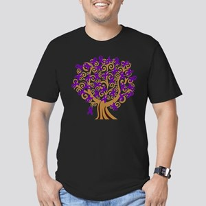 Purple Ribbon Tree Alzheimers T-Shirt