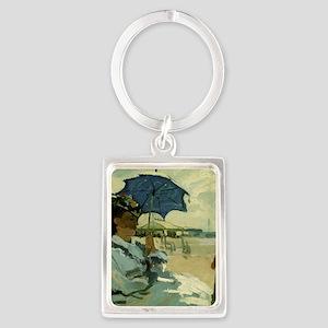 Monet Beach 1870 Keychains