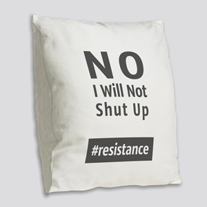 Resistance Burlap Throw Pillow