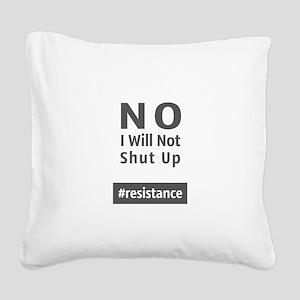 Resistance Square Canvas Pillow