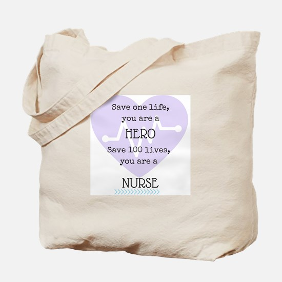 Hero Nurse Tote Bag