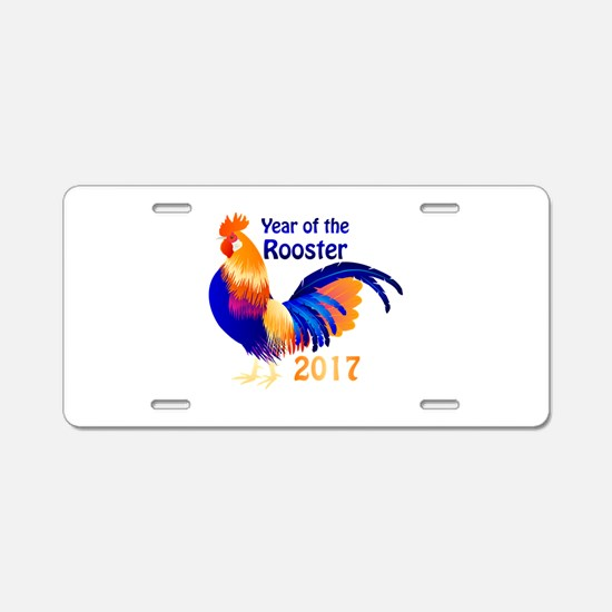 Year of the Rooster 2017 Aluminum License Plate