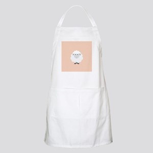 Sweet Baby Lamb on Pastel Pink and Cream Apron