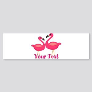 Personalizable Pink Flamingoes Bumper Sticker