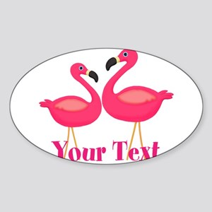 Personalizable Pink Flamingoes Sticker