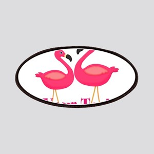 Personalizable Pink Flamingoes Patch