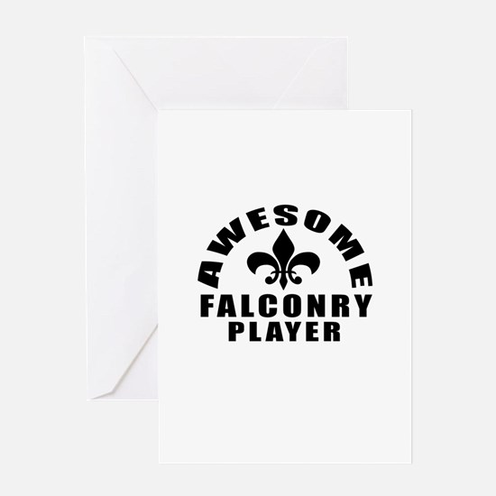 Awesome Falconry Player Designs Greeting Card
