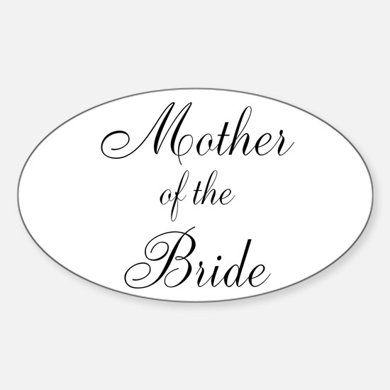 Mother of the Bride Black Script Decal