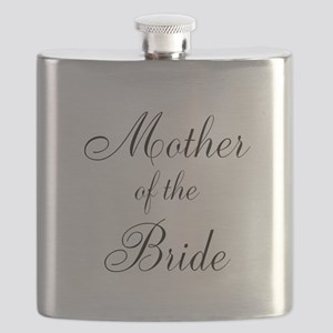 Mother of the Bride Black Script Flask