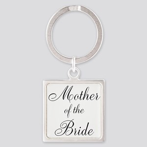 Mother of the Bride Black Script Keychains