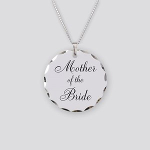 Mother of the Bride Black Script Necklace