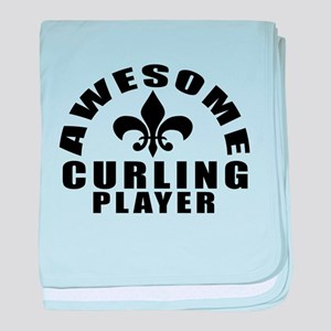 Awesome Curling Player Designs baby blanket