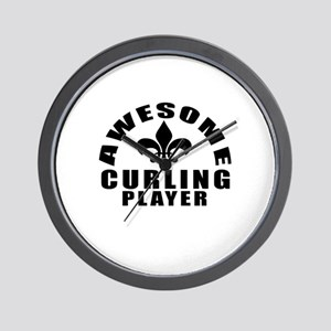 Awesome Curling Player Designs Wall Clock