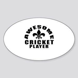 Awesome Cricket Player Designs Sticker (Oval)