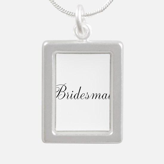 Bridesmaid Black Script Necklaces