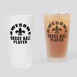 Awesome Bocce Ball Player Designs Drinking Glass