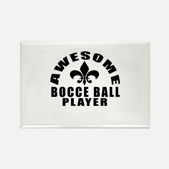 Awesome Bocce Ball Player Designs Rectangle Magnet
