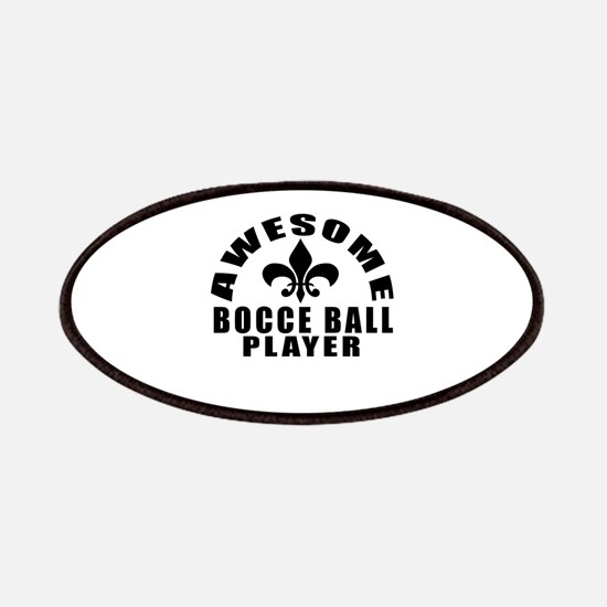 Awesome Bocce Ball Player Designs Patch