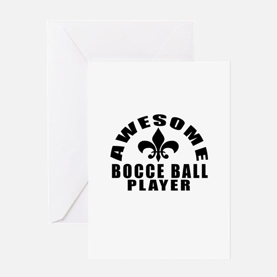 Awesome Bocce Ball Player Designs Greeting Card