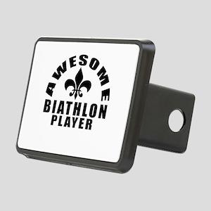 Awesome Biathlon Player De Rectangular Hitch Cover