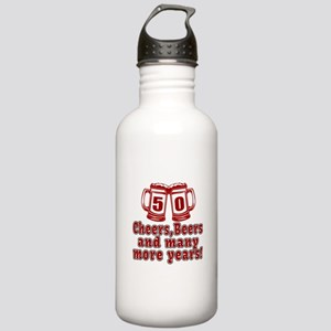 50 Cheers Beers And Ma Stainless Water Bottle 1.0L