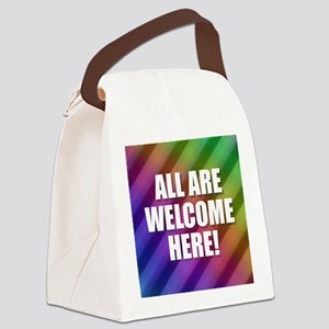 All Are Welcome Here Canvas Lunch Bag
