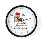Pistachio in Peanut Jar Wall Clock