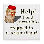 Pistachio in Peanut Jar Tile Coaster