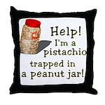 Pistachio in Peanut Jar Throw Pillow