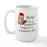 Pistachio in Peanut Jar Large Mug