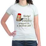 Pistachio in Peanut Jar Jr. Ringer T-Shirt