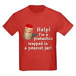 Pistachio in Peanut Jar Kids Dark T-Shirt