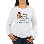Pistachio in Peanut Jar Women's Long Sleeve T-Shir