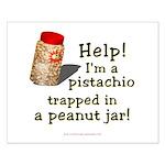 Pistachio in Peanut Jar Small Poster