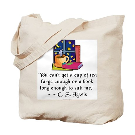Tea & Books w Quote Tote Bag