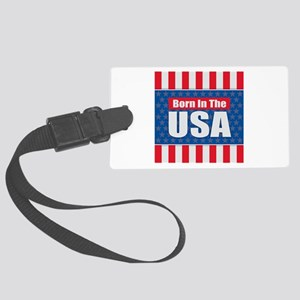 Born in the USA Large Luggage Tag