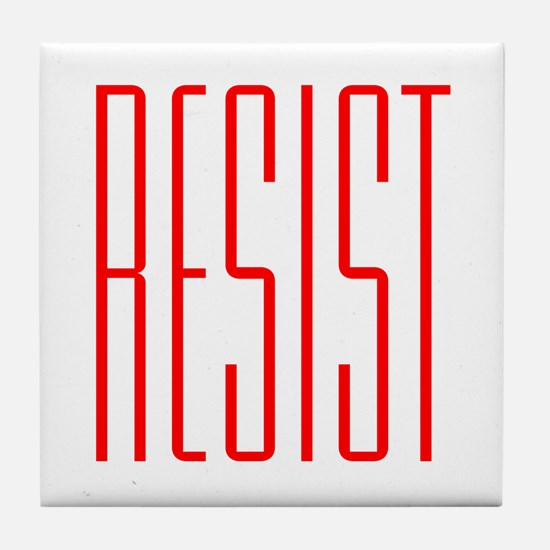 RESIST (red) Tile Coaster
