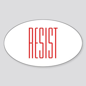 RESIST (red) Sticker (Oval)