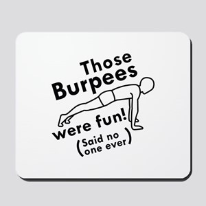 burpees mouse pads cafepress