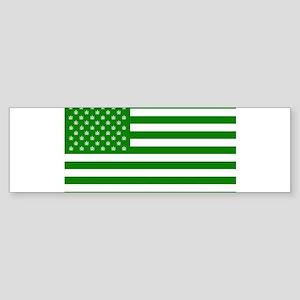 Marijuana American Flag Bumper Sticker